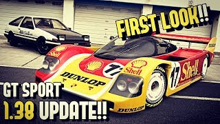 PORSCHE 962C, Toyota AE86 and More!! (FULL review of GT SPORT 1.38!)