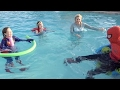 Disney Princess Pool Party With Elsa, Rapunzel, Ariel, Tiana, Merida & Aurora w/ spiderman -