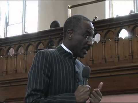 Sanusi takes questions at Oxford University's Pan-Africanism Conference 2012