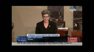 Ernst Delivers Remarks from Senate Floor on VA MISSION Act