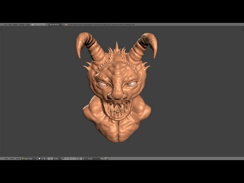 Blender Tutorial - Sculpting in Blender Part 1 of 2