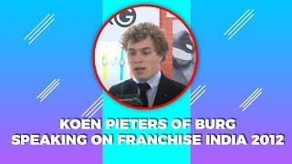 Koen Pieters of Burg speaking at