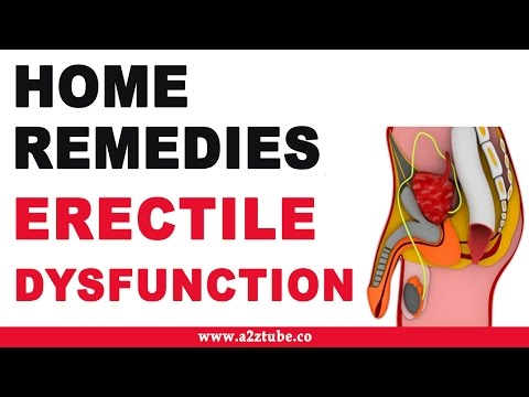 Home remedy erectile dysfunction treatment