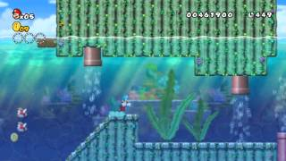 Informatie Wii U + Gameplay New Super Mario Bros Wii (W1 level 4) Gameplay met Live Commentary
