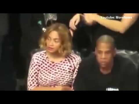 Beyonce Acting Strange at Brooklyn Nets Game (VIDEO) Jay Z & Beyonce Illuminati