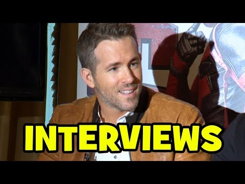 DEADPOOL Cast Interviews - Ryan Reynolds, Ed Skrein, Tim Miller - Blu-ray & DVD Global Press Day
