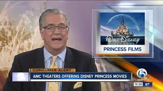 Disney princess movies on the big screen through October 18 at participating AMC theaters