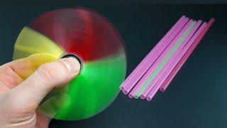 |DIY| How To Make a  Drinking Straw Fidget Spinner | Creative Ideas