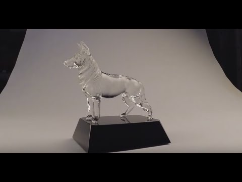 0 Dog Figurines by Custom Glass Etching 2014