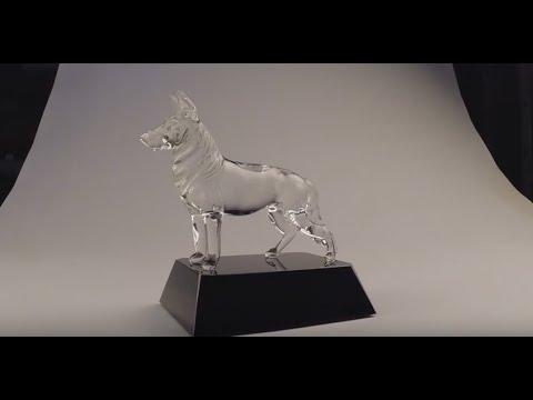 0 Dog Figurines by Custom Glass Etching 2014