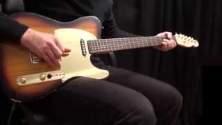 Dire Straits - Solid Rock Live Intro Riffs with Schecter Tele Copy