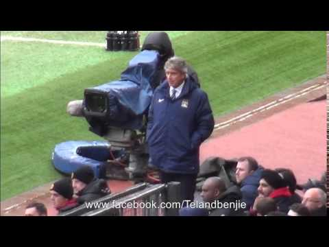 """Sacked in the morning"" Manchester Fans sing to Manuel Pellegrini during the Derby Defeat"