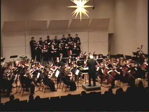 Performed by the Moravian College Community Orchestra and select members of the Moravian College Choir at the MCCO 2008 winter concert.