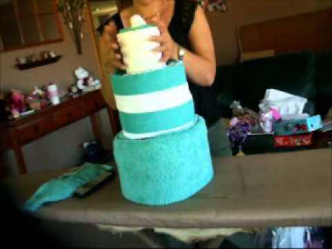 Dish Towel Cake Tutorial