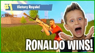 Playing as Ronaldo for the Epic Victory Royale WIN!