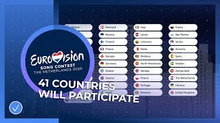 41 Countries will take part in the Eurovision Song Contest 2020