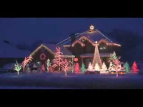 Christmas Light Show - Amazing Grace Techno