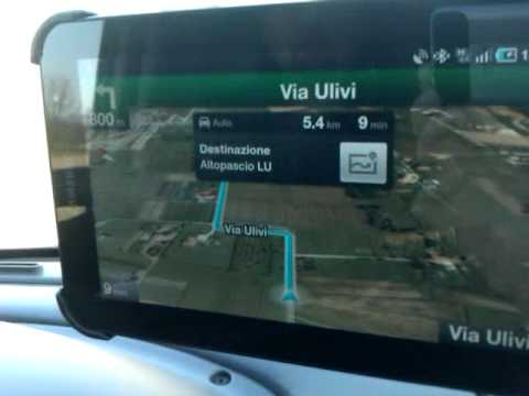 Google Navigatore su Galaxy Tab