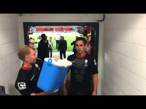 Gary Neville Ice Bucket Challenge | Class of 92 | FullTimeDEVILS