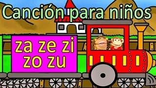 Canción za ze zi zo zu - El Mono Sílabo - Videos Infantiles - Educación para Niños #