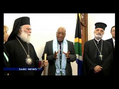 Greek Orthodox Church honour Jacob Zuma