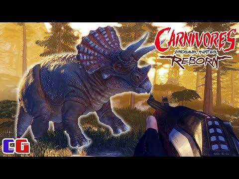 Охота на динозавров #4 Встреча с ТРИЦЕРАТОПСОМ! Игра Carnivores Dinosaur Hunter Reborn