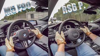 M5 F90 vs. RS6 Performance - RACE🏁 & SOUND💥