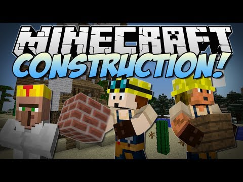 Minecraft | CONSTRUCTION! (Turn Blueprints into EPIC Kingdoms!) | Mod Showcase