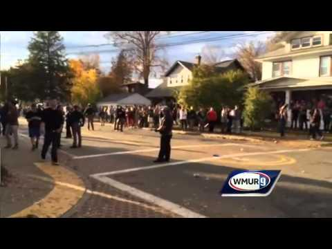 Raw video: Scene from Keene as police clear streets