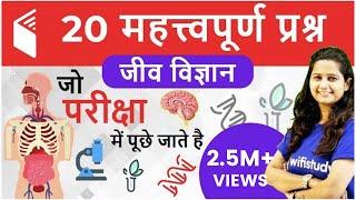 20 महत्वपूर्ण प्रश्न - Human Body System (मानव शरीर प्रणाली)