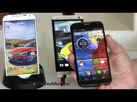 Moto X vs.  HTC One and Samsung Galaxy S4 Comparison Smackdown