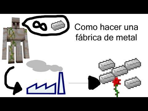 Como hacer una fábrica de metal en minecraft