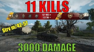 World of Tanks - Strv m/42-57 Alt A.2 - 11 Kills - 3000 Damage