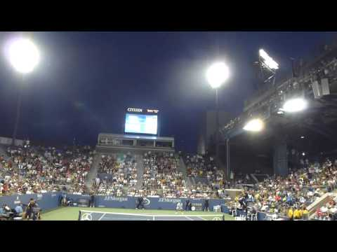 "Milos Raonic US Open 2012 ""Serves Coming At You"" James Blake"