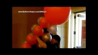 How to Make a Square Column from Balloons