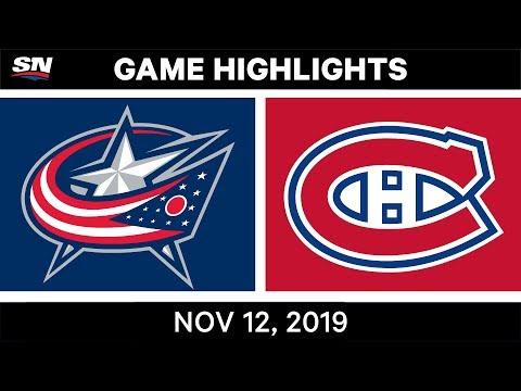 NHL Highlights  Blue Jackets vs. Canadiens в Nov. 12, 2019