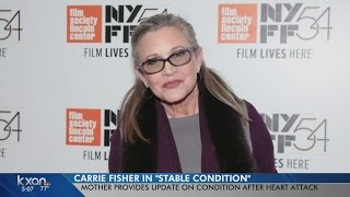 Carrie Fisher in stable condition in LA hospital