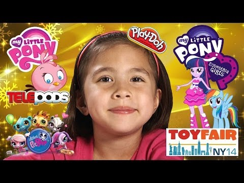My Little Pony Equestria Girls Rainbow Rocks, Play Doh, Angry Birds Stella - Toy Fair 2014 video
