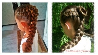 Dutch Braid Rose Hairstyle, Flower Girl or Bridesmaid Hairstyles