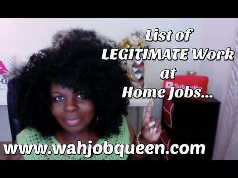FULL List of LEGITIMATE Work at Home Jobs ... Data Entry, CHAT, Customer Service & MORE!