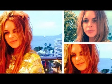Lindsay Lohan Parties Topless at Cannes Film Festival