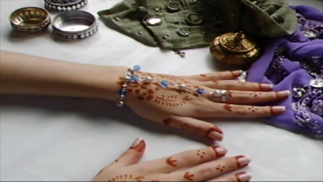 Pulsera con anillo o pulsera arabe. - YouTube
