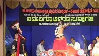 Yakshagana -- Vamsha vahini -   Prajwal kumar as Krithye - 2 - hasya