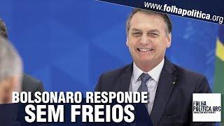 Presidente Bolsonaro dá respostas arrebatadoras em café com jornalistas - Greve Geral, Lula, General