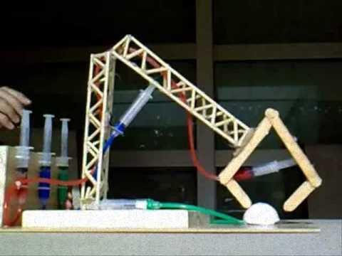 Brazo Hidraulico Proyecto Fisica Nusefa Youtube