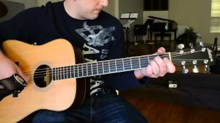 "Hymn ""I Surrender All"" - Acoustic Guitar Version Riff"