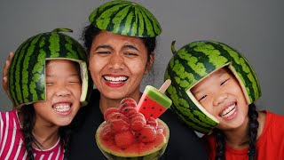 수박 자매 Watermelon shaved ice Mukbang TwinRoozi 쌍둥이루지 먹방