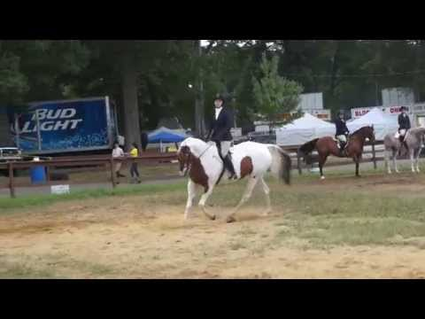 Sally and Elizabeth winning Open Adult Equitation at the Haddam Neck Fair