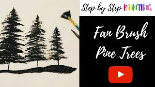 How To Paint Silhouette Trees