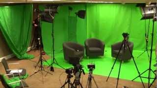 Green screen - before and after